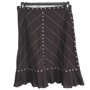Odille Anthropologie Skirt Embroidered 8 NWOT